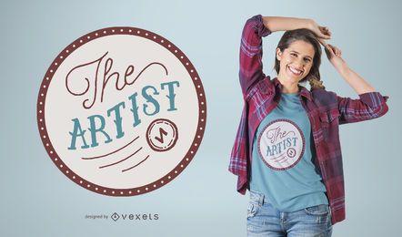 Das Künstler-T-Shirt-Design