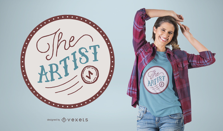 El diseño de la camiseta del artista