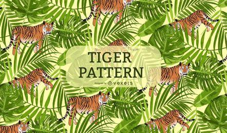 Fondo del patrón del tigre