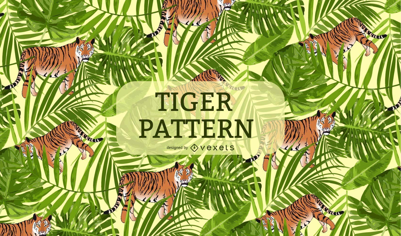 Fondo de patrón de tigre