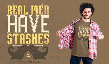 Wirkliche Männer haben Versteck-T-Shirt-Entwurf