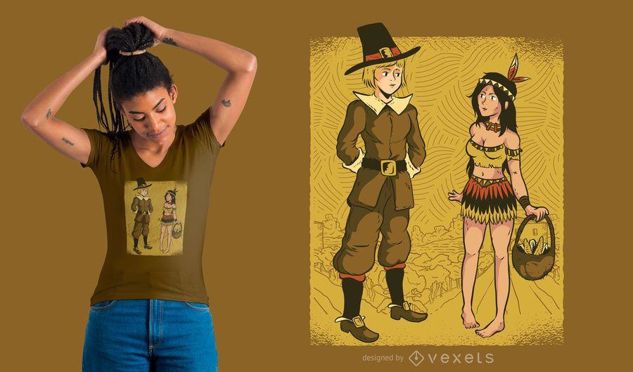 Peregrino e projeto nativo do t-shirt