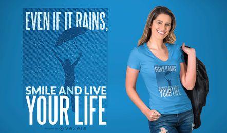 Diseño inspirado de la camiseta de la cita
