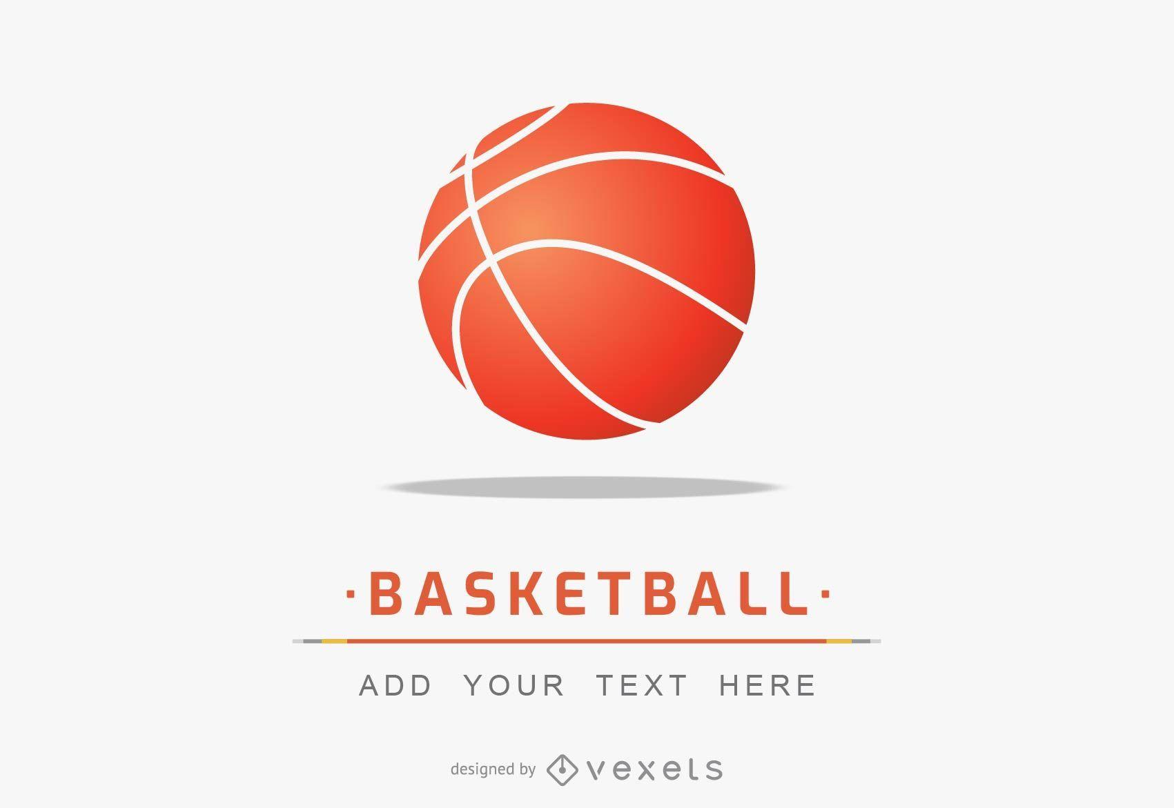Plantilla simple de logotipo de baloncesto