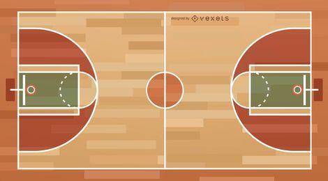 Basketballplatz-Abbildung