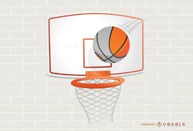 Ilustración del aro de baloncesto