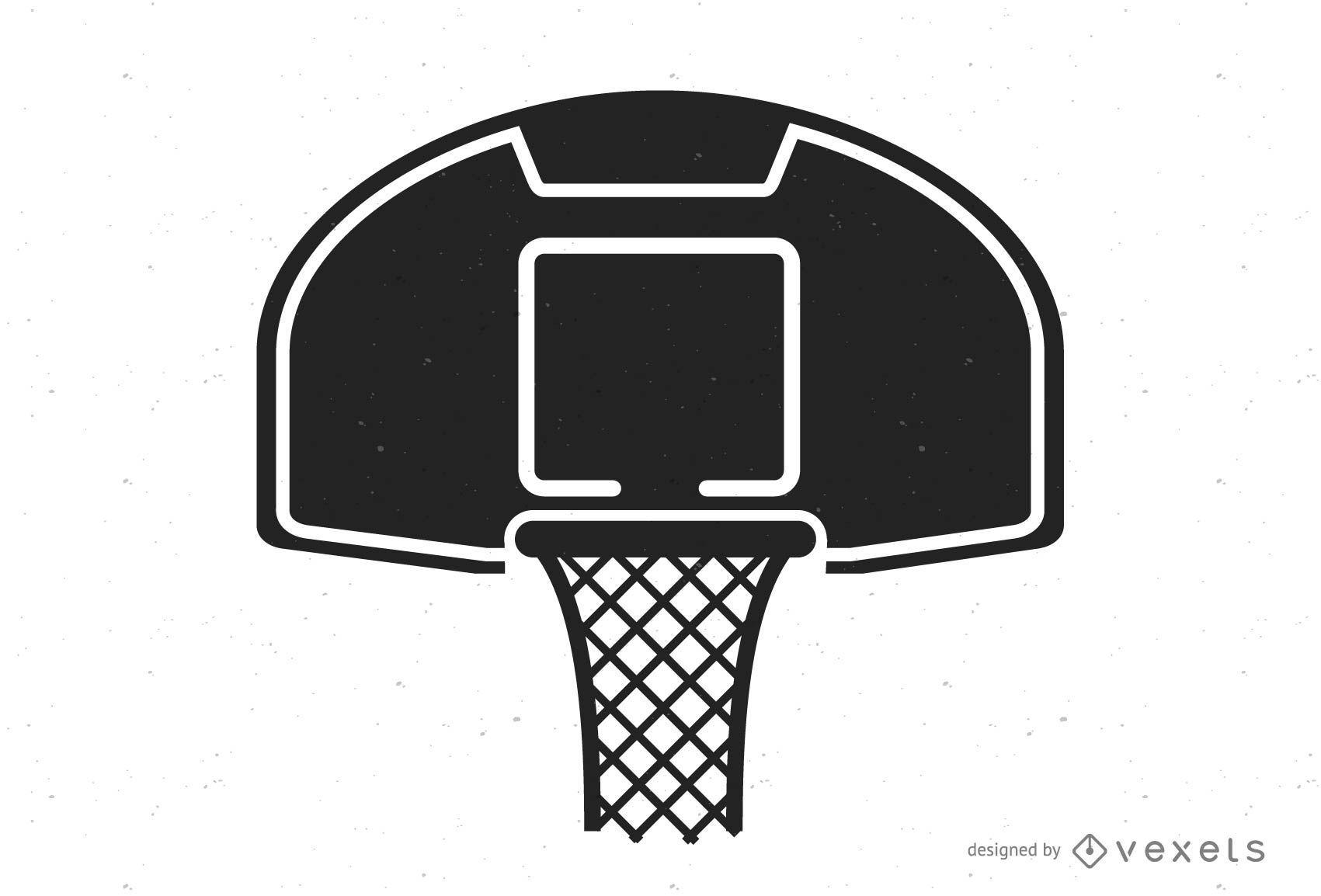 Logo de baloncesto blanco y negro