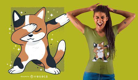 Diseño lindo de la camiseta del gato Dab