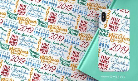Neues Jahr 2019 Muster
