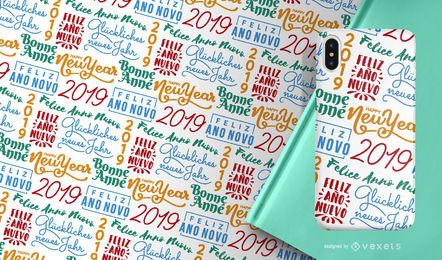 Neujahr 2019 Muster