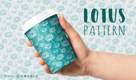 Nahtloses Muster der Lotusblume