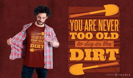 Diseño de camiseta de cita de jardinería.
