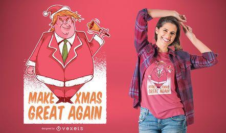 Projeto do t-shirt de Santa Trump