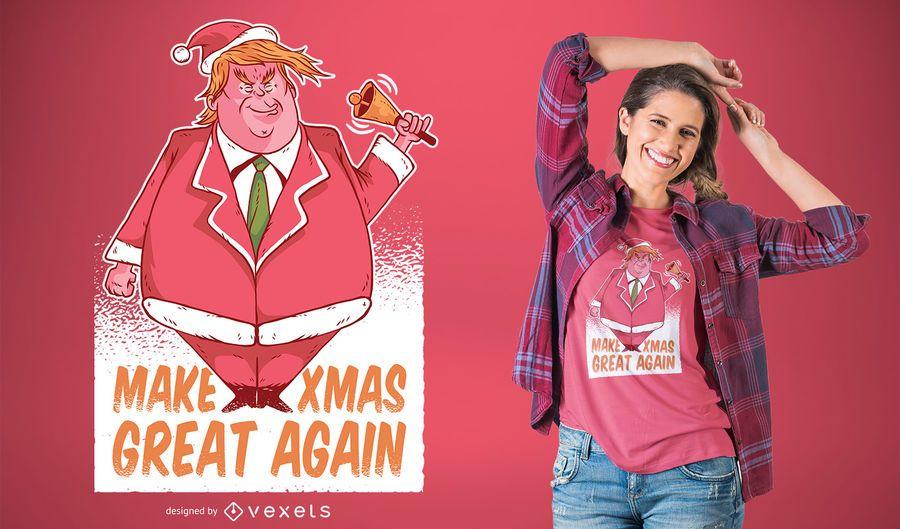 Diseño de camiseta de Santa Trump