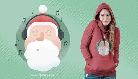 Santa Music T-Shirt Design