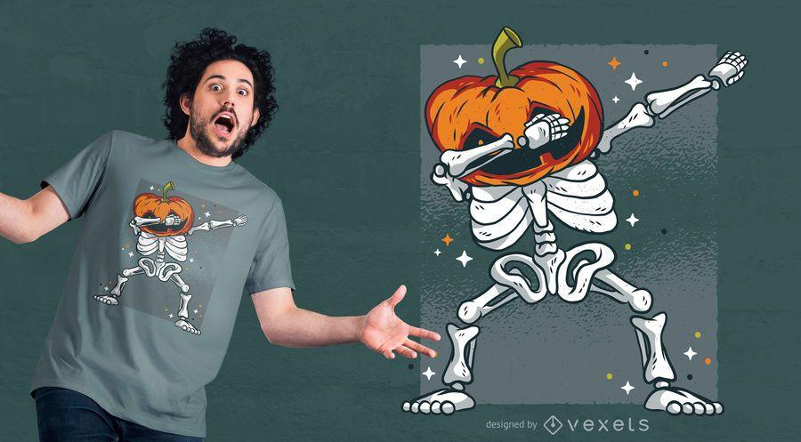 Diseño de camiseta Skeleton Dab