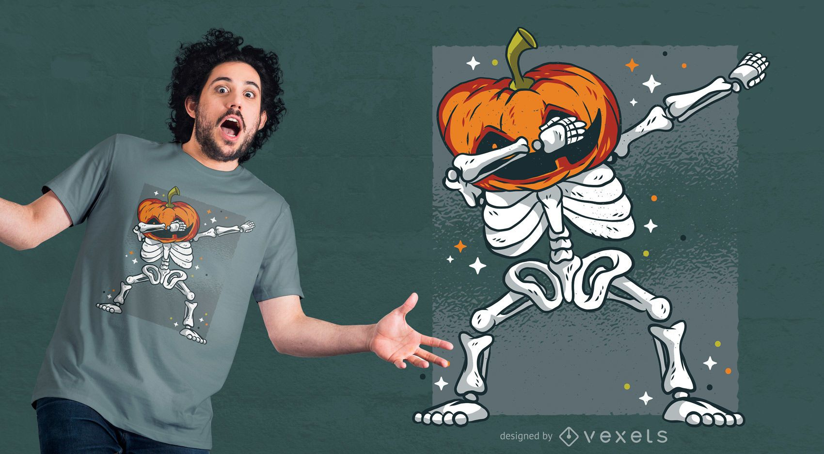 Skeleton Dab T-shirt Design