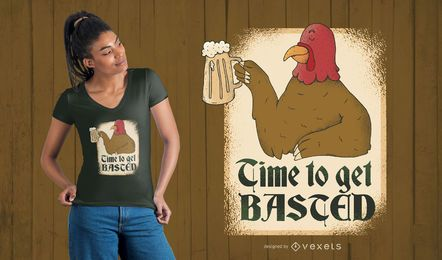 Turkey Basted T-shirt Design