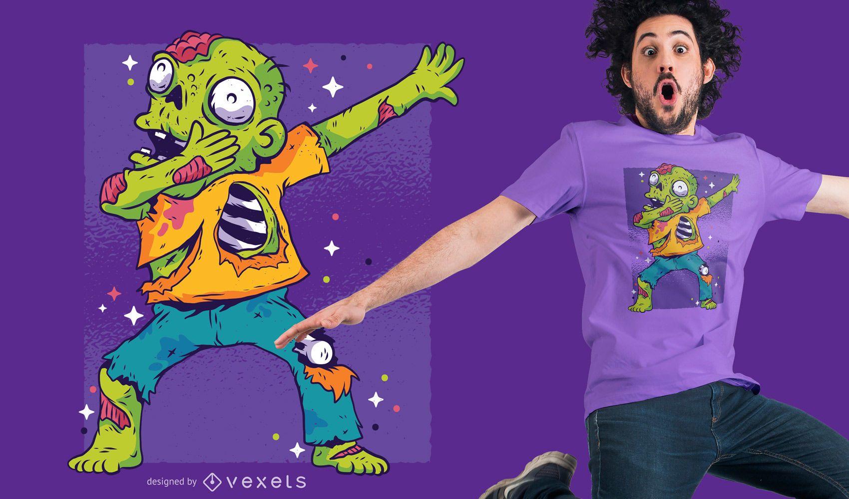 Zombie Dab T-shirt Design
