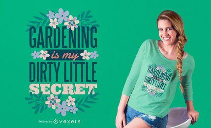 Diseño de camiseta de jardinería.