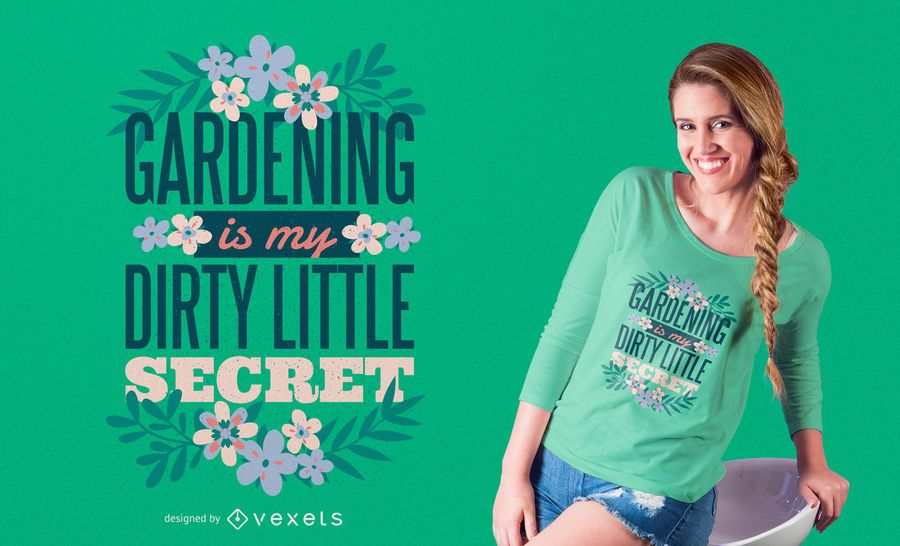 Design de t-shirt de jardinagem