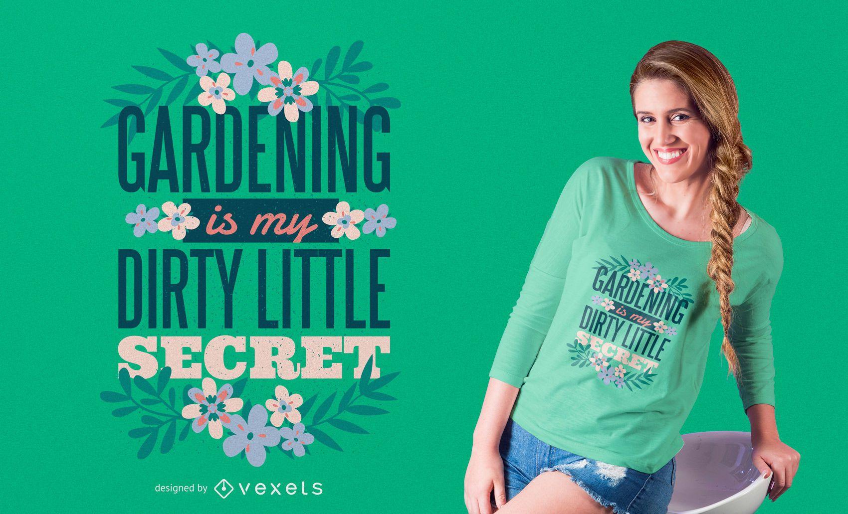 Gardening t-shirt design