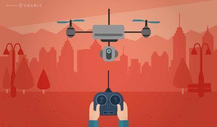 Remote-Drohnen-Illustration