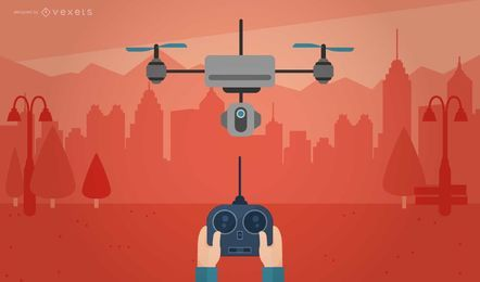 Remote drone illustration