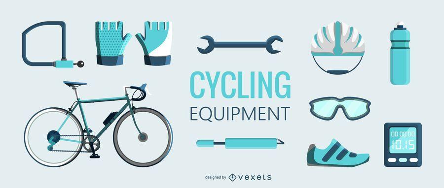 Flt ciclismo equipamento ilustração