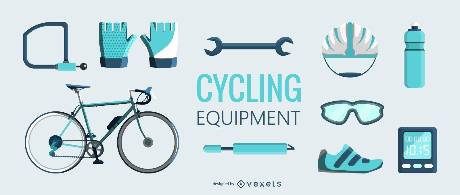 Ilustración de equipo de ciclismo Flt
