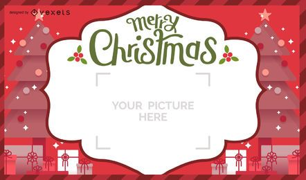 Christmas postal card design