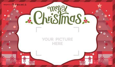 Diseño de tarjeta postal de navidad