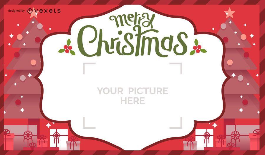 Christmas postal card design