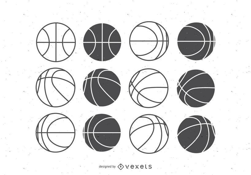 Bolas de basquete set plana