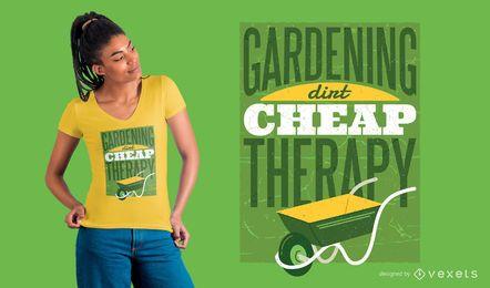 Diseño de camiseta de terapia de jardinería