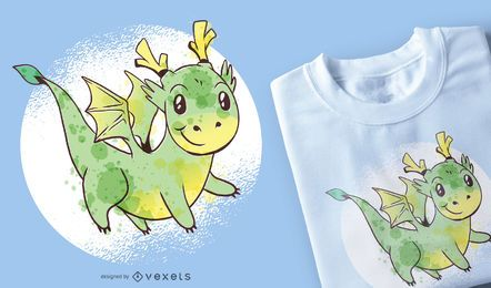 Netter Drache-T-Shirt Entwurf