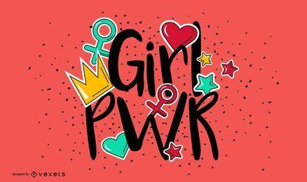 Mädchenpower-Briefgestaltung