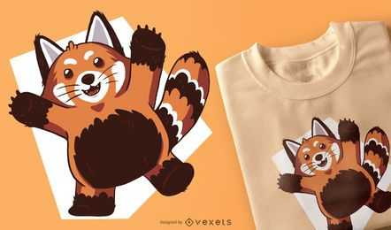 Red Panda T-shirt Design