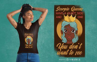Design de camisetas Escorpião Queens