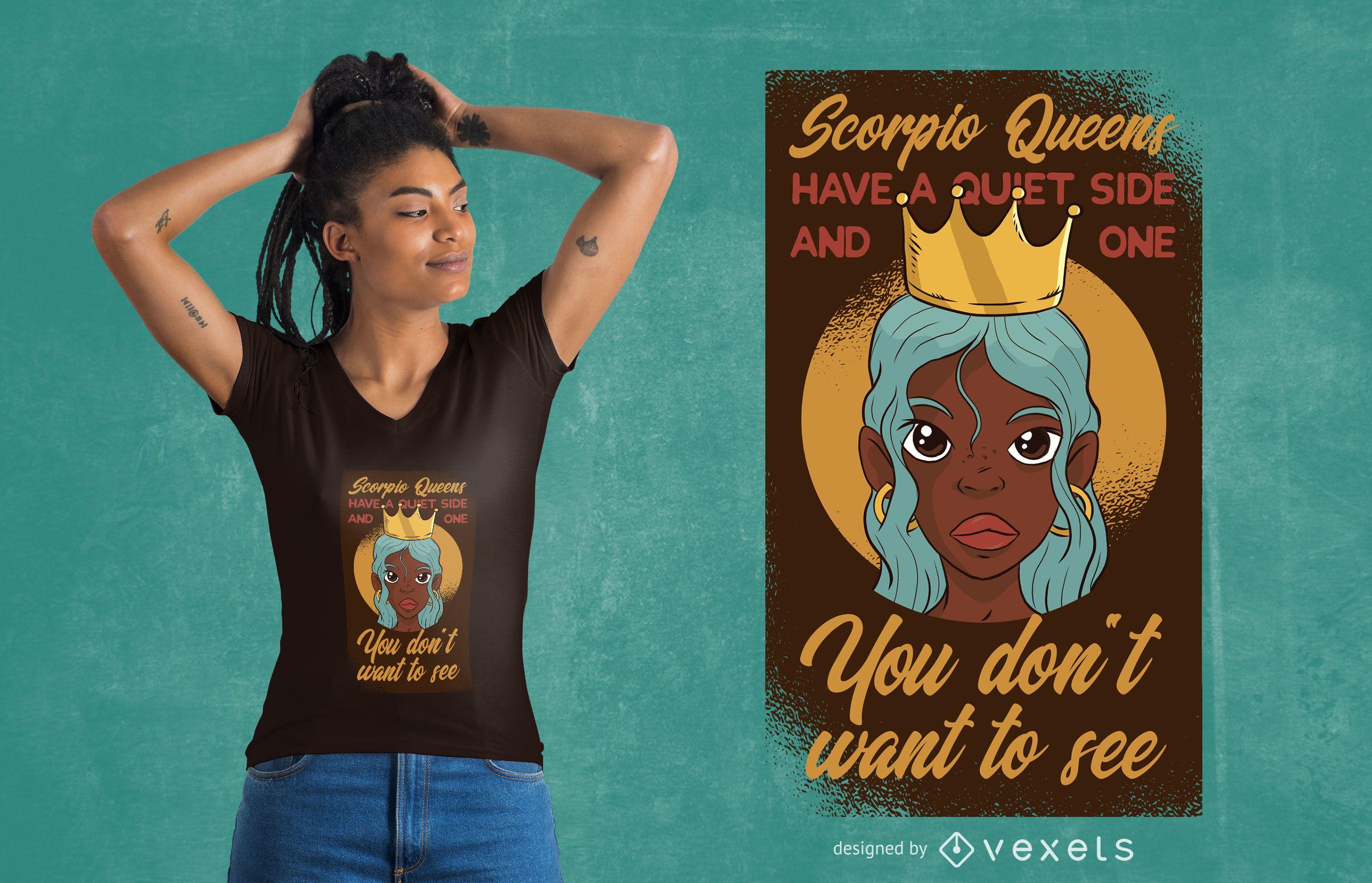 Scorpio Queens T-shirt Design