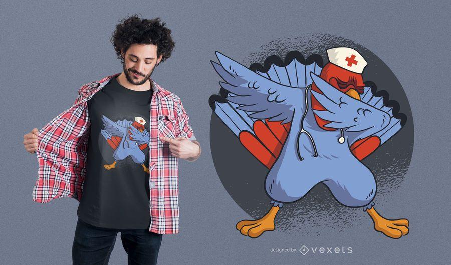Turkey Dab Nurse T-shirt Design