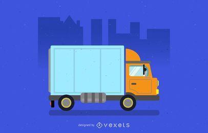 Ilustración de camión de reparto