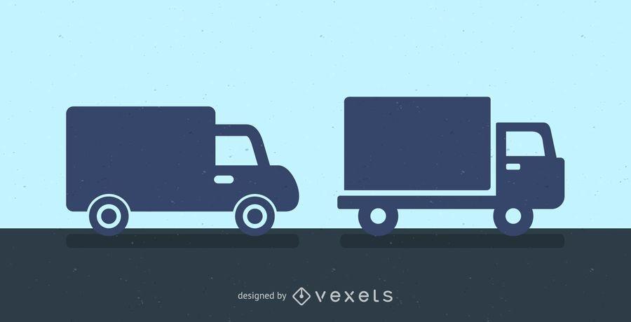 Lieferwagen Silhouette Symbol