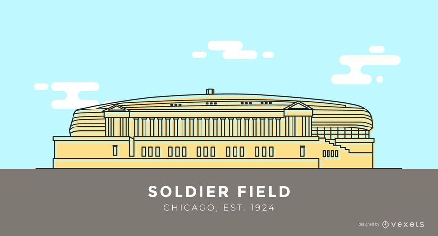 Dibujos animados del estadio Soldier Field