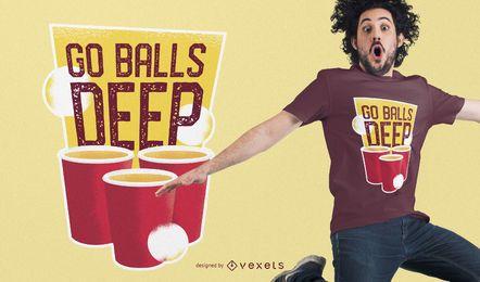Projeto do t-shirt de Pong da cerveja