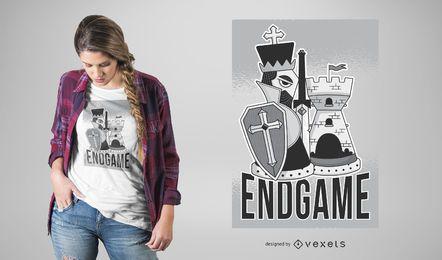 Diseño de camiseta de ajedrez
