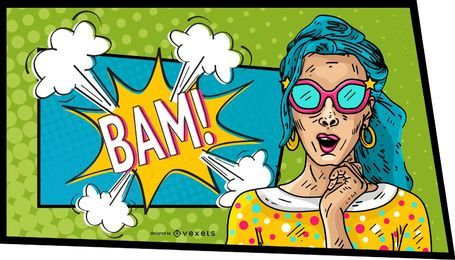 Comic Woman Bam Design