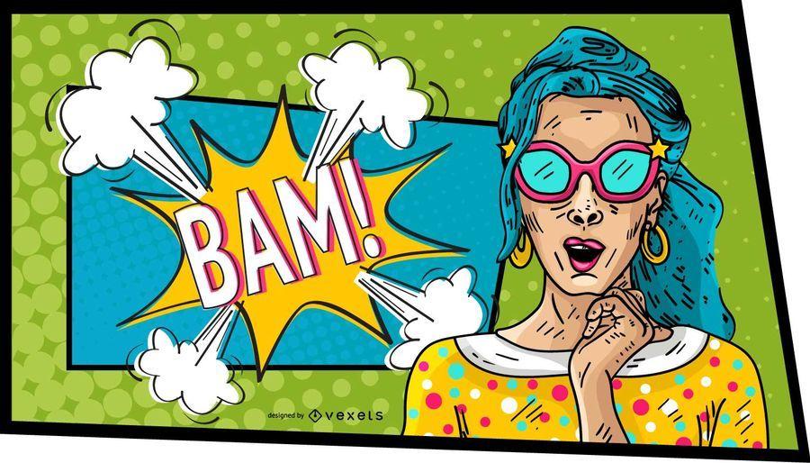 Mulher Comic Bam Design