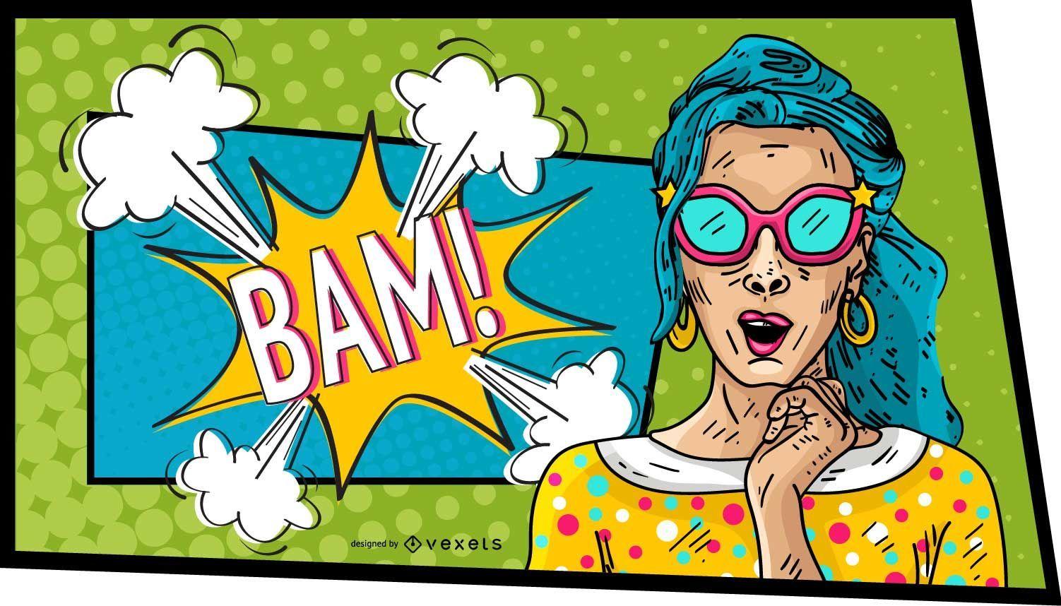 Comic Woman Bam Design