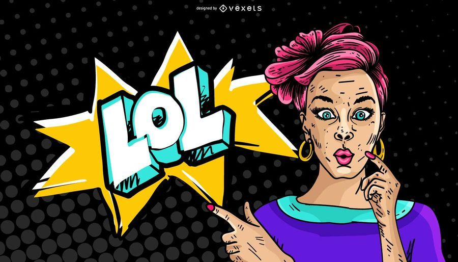 Comic Woman Lol Illustration